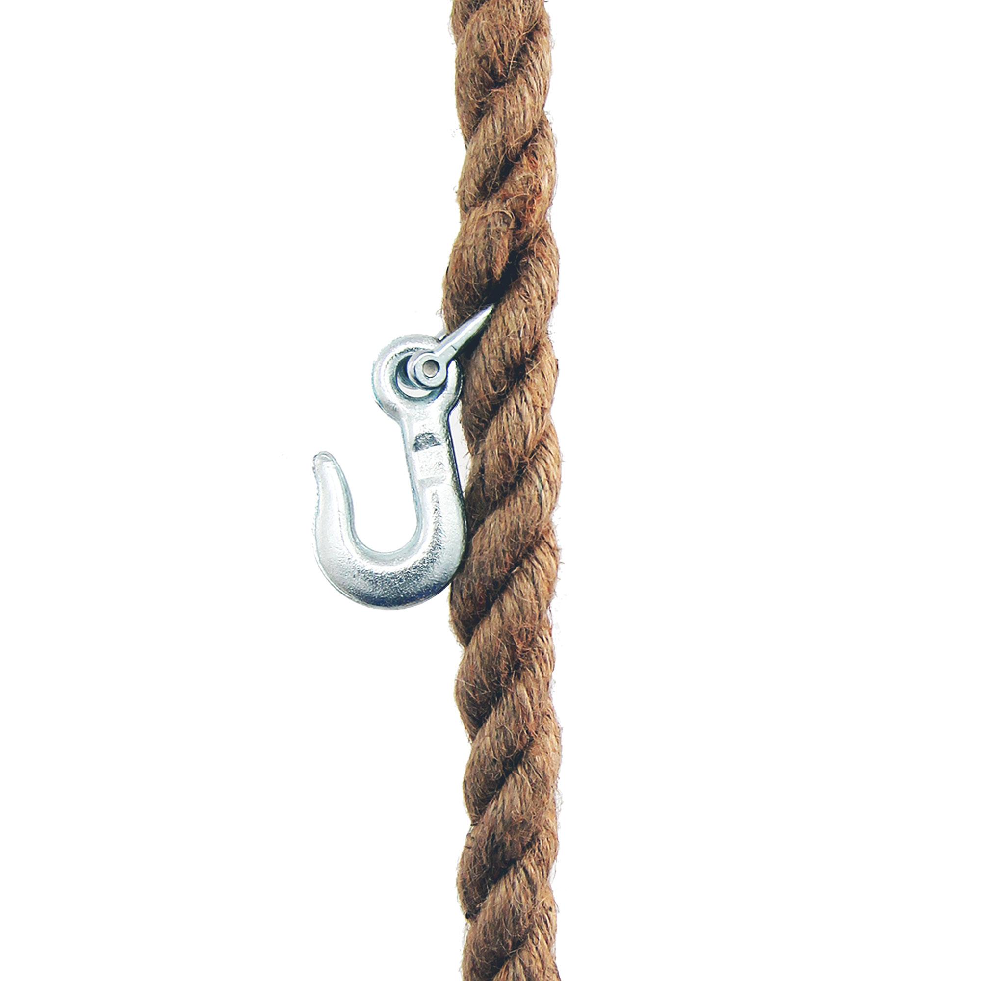 Seilgarderobe hängend aus Jute-Seil