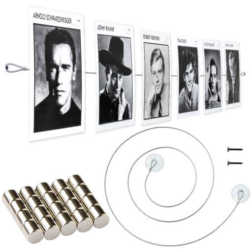 Fotoseil mit Magneten, Saugnäpfen und Befestigungsschlaufen