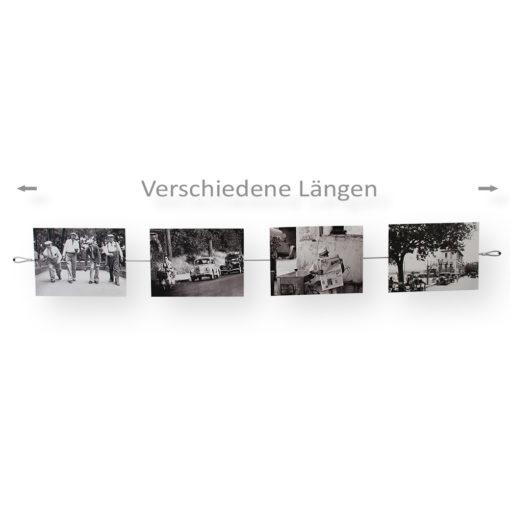 Fotoseil mit Magneten und Befestigungsschlaufen in verschiedenen Längen