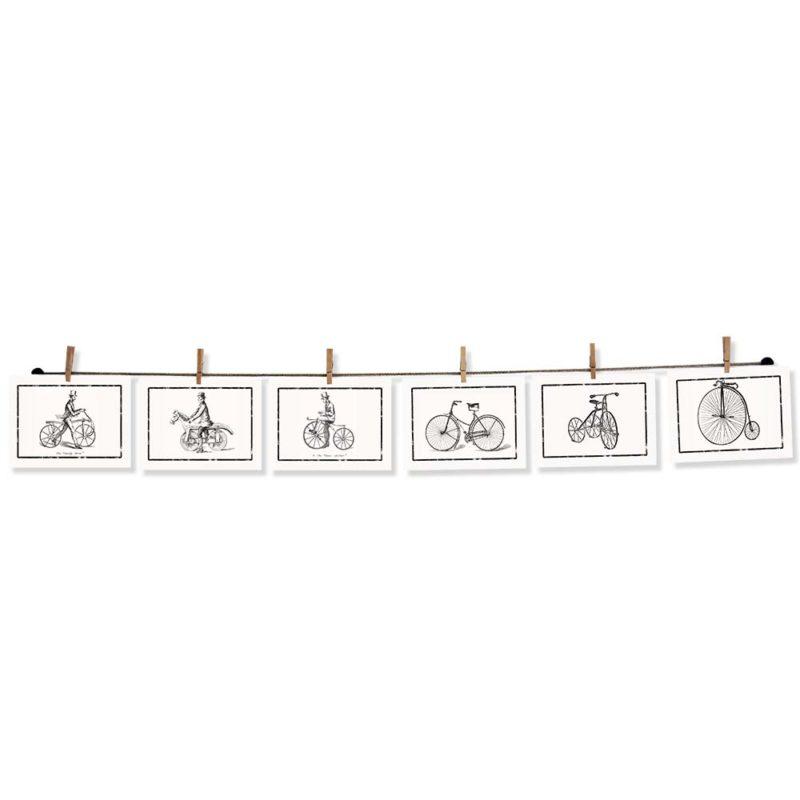 Postakarten mit einem Bilderseil aufhängen