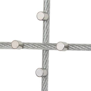 Ummanteltes Fotoseil mit Magneten in Detailansicht