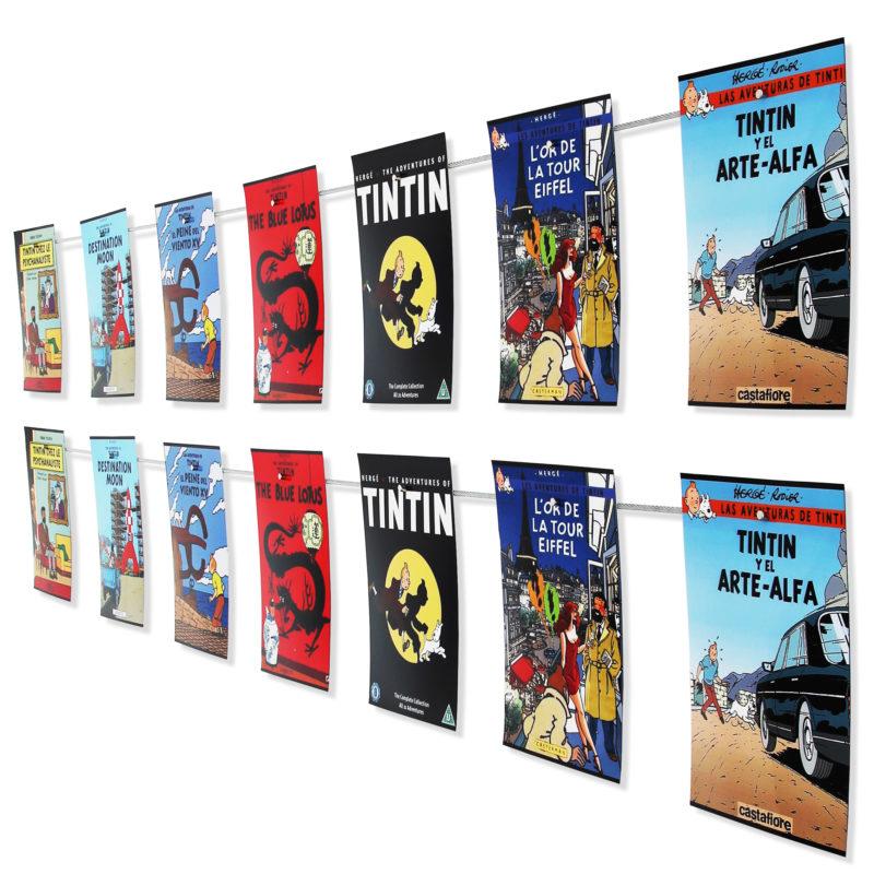 Fotoseil mit Magneten hält auch dickere Fotos und Postkarten sicher an der Wand