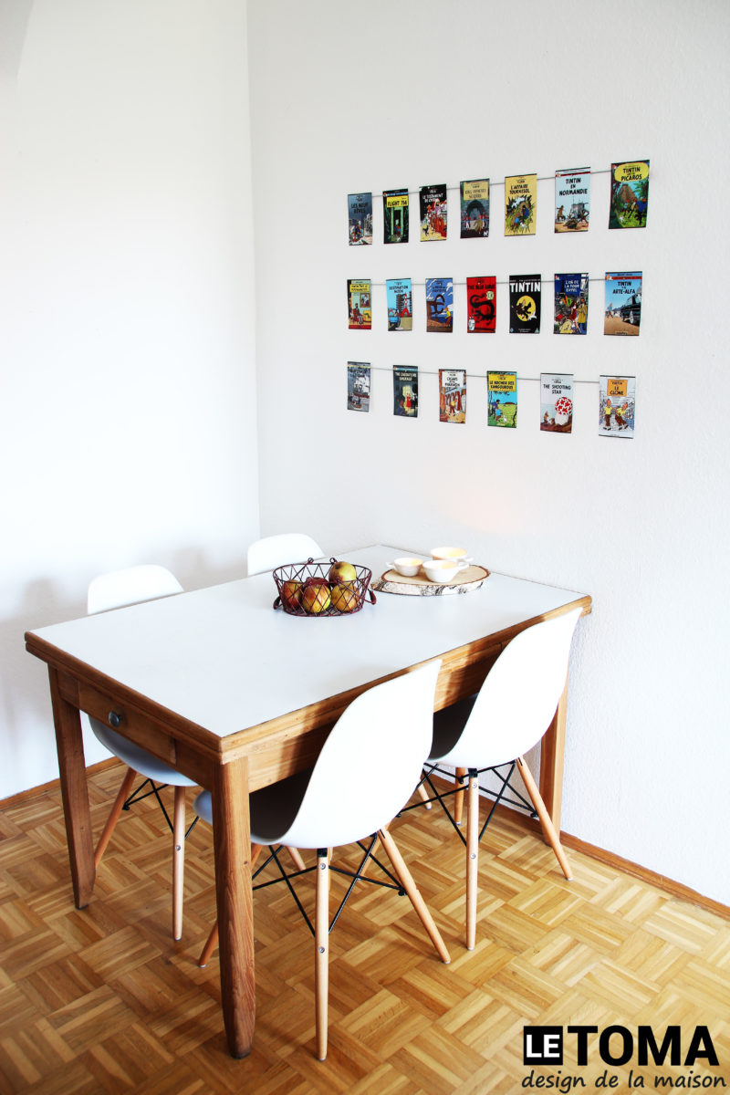 Ummanteltes Fotoseil mit starken Neodym Magneten hält Postkarten an der Wand