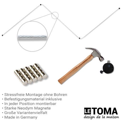 Fotoseil mit Magneten von LeTOMA mit Montageanleitung