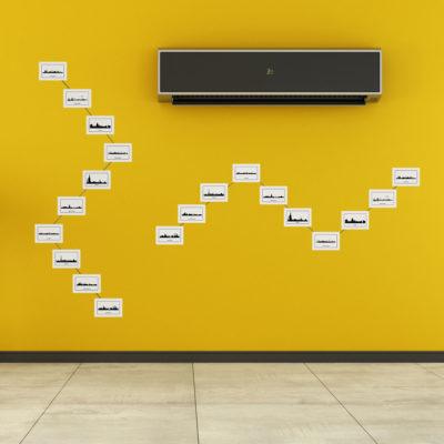 Fotoseil mit Magneten von LeTOMA - Viele mögliche Designs